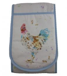Country Cockerel Double Oven Glove