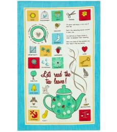 Ulster Weavers linen read the tea leaves tea towel