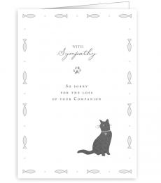 Quire Publishing With Sympathy Sorry for your loss Greeting Card pet cat