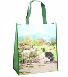Collie and sheep shopping bag, Lesser and Pavey