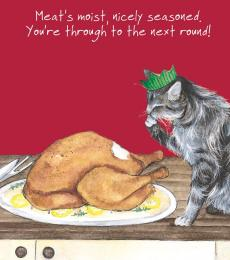 little dog laughed cat seasoned christmas card