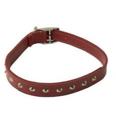 Ancol red studded leather collar 12 inch