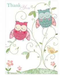 Thank You Owl Notecards