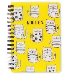 Go Stationery Yellow Cats A6 Notebook
