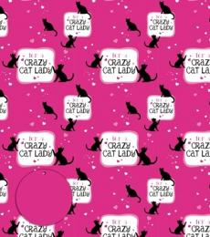 Otterhouse Crazy Cat Lady Gift Wrapping Paper