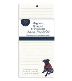 patterdale x little dog magnetic notepad