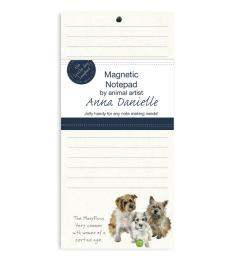 terrier many paws magnetic notepad dog