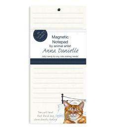 ginger cat magnetic notepad