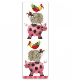 Alex Clark Art Farmyard Acrobatics Magnetic Bookmark