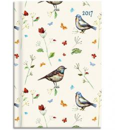 Gifted Staionery Company Padded A5 Diary 2017 Bird Song