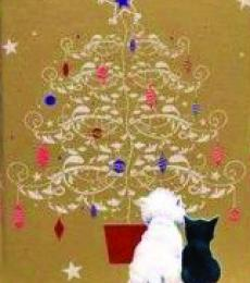 christmas gift tag black cat and westie otterhouse