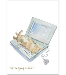 Trumpers World Cat Napping Online Card
