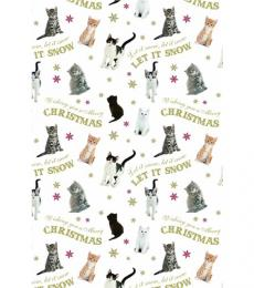 Cats Let it Snow Christmas Wrapping Paper
