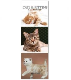 Gifted Staionery Company Slimline cats and kittens Calendar 2017
