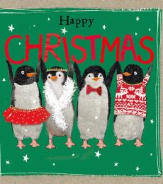 christmas card festive penguins