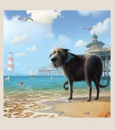 Cold Feet dog card