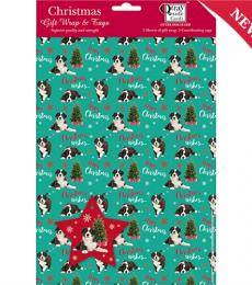 A Very Collie Christmas Wrapping Paper