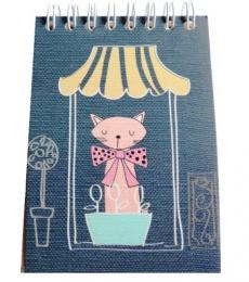 Go Stationery Mini Reporter notepad Cat blue