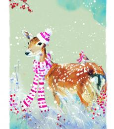 deer with hat christmas tags ling design