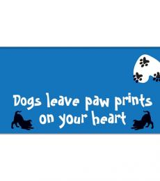 dogs leave paw prints on your heart desk top note pad otterhouse