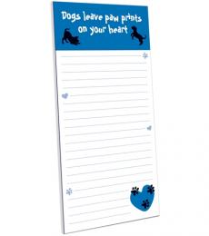 dogs leave paw prints on your heart magnetic memo pad otterhouse