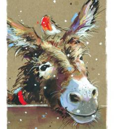 donkey and robin christmas tags ling design