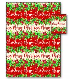 winter floral Christmas gift wrap
