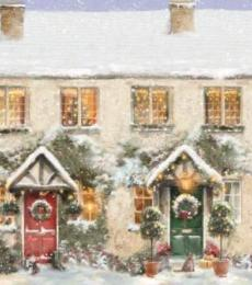 National Animal Welfare Trust Christmas Card Festive Neighbours