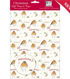 Festive Robin Christmas Wrapping Paper