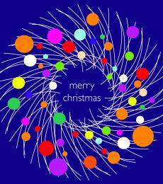 christmas cards festive wreath