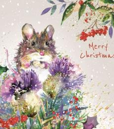 Merry christmas cute mouse