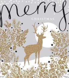 National Animal Welfare Trust Christmas Card Golden Deer