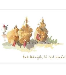 Trumpers World Heads down girld chicken greeting card