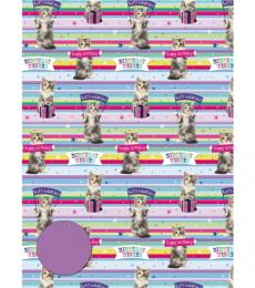 kitten and banner gift wrap otterhouse