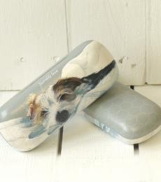 little dog laughed glasses case scruffy love