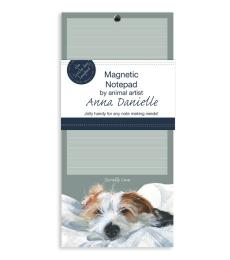 magnetic notepad jack russell scruffy love