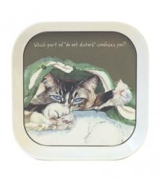 little dog laughed do not disturb cat trinket tray