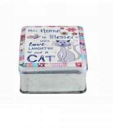cat metal storage tin lesser and pavey