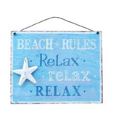 Beach Rules Plaque