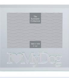 I love my dog glass mirror photo frame lesser and pavey leonardo collection