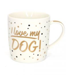 china mug i love my dog leonardo collection