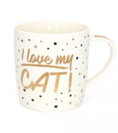 china mug i love my cat leonardo collection