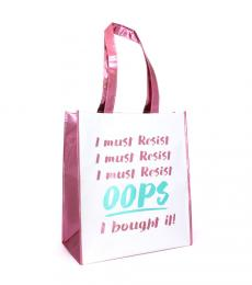 i must resist shopping bag