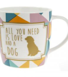 lesser and pavey leonardo collection love and a dog mug