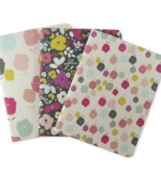 Go Stationery Modern Ditsy Floral Mini Notebooks set of 3