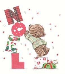 Milkwood Whistlefish Galleries Christmas Card teddy bear Noel