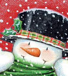 National Animal Welfare Trust Frosty the Snowman charity Christmas greeting card