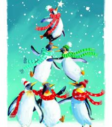penguin christmas tags ling design