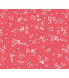 red berries christmas wrapping paper whistlefish