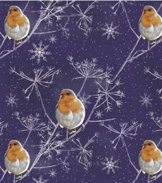 Otterhouse Christmas Gift Wrapping Paper Midnight Robin